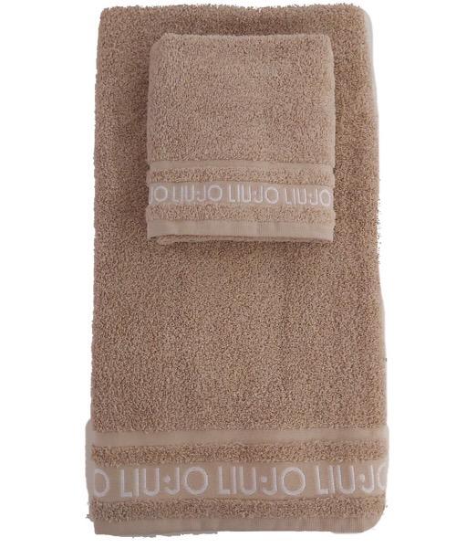 Coppia 1+1 asciugamani sabbia in spugna