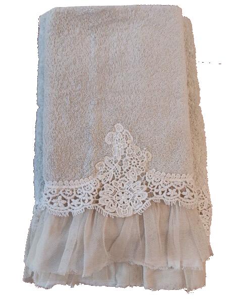 Coppia 1+1 asciugamani naturale in spugna