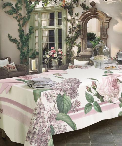 Tovaglia Bloom Rosa 150 x 270 di Tessitura Randi